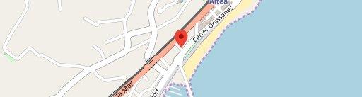 Maná lounge - beach en el mapa