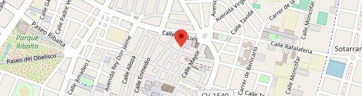 Pizzeria San Luis en el mapa