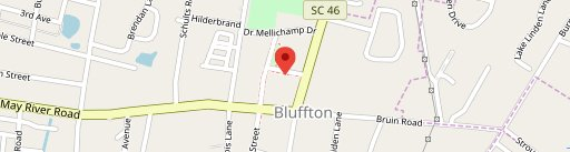Bluffton BBQ on map