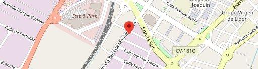 Restaurante Chino City II en el mapa