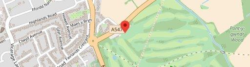 Rhuddlan Golf Club on map
