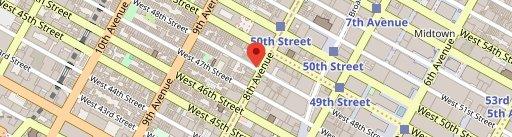 Sombrero on map