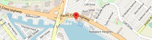 The Winery Restaurant Newport Beach on map