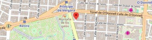 Restaurante en el Retiro de Madrid Vinos de Bellota en el mapa
