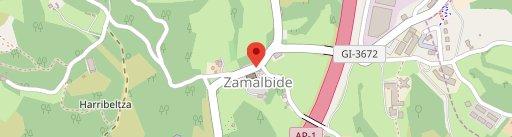 Zamalbide en el mapa