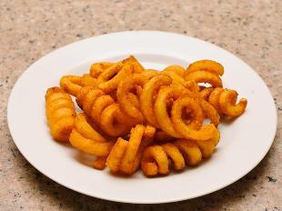 patatas fritas rizadas