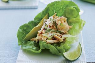 ролл с салатом