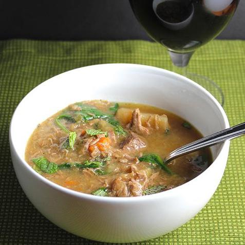 Mutton stew with cabbage