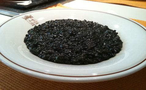 Black risotto