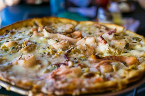 Pizza de marisco