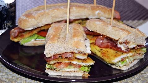 Sándwiches de beicon