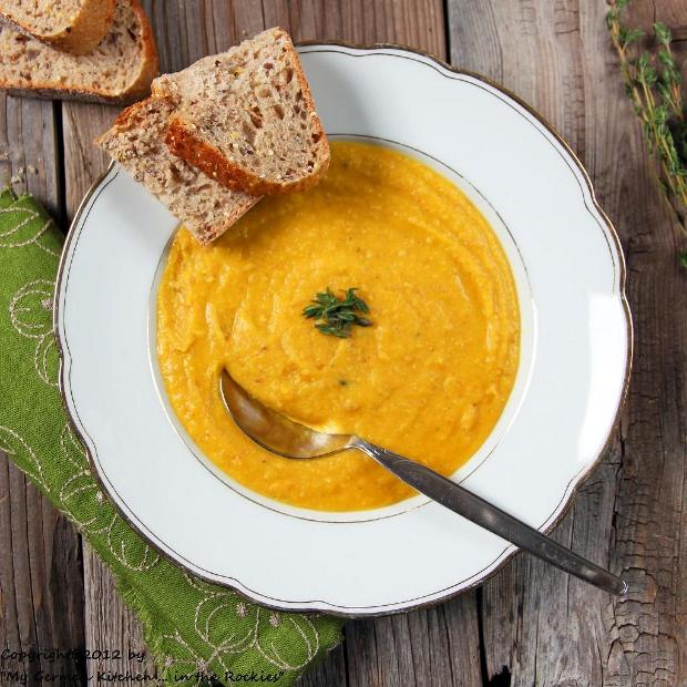 Sopa amarilla de guisantes