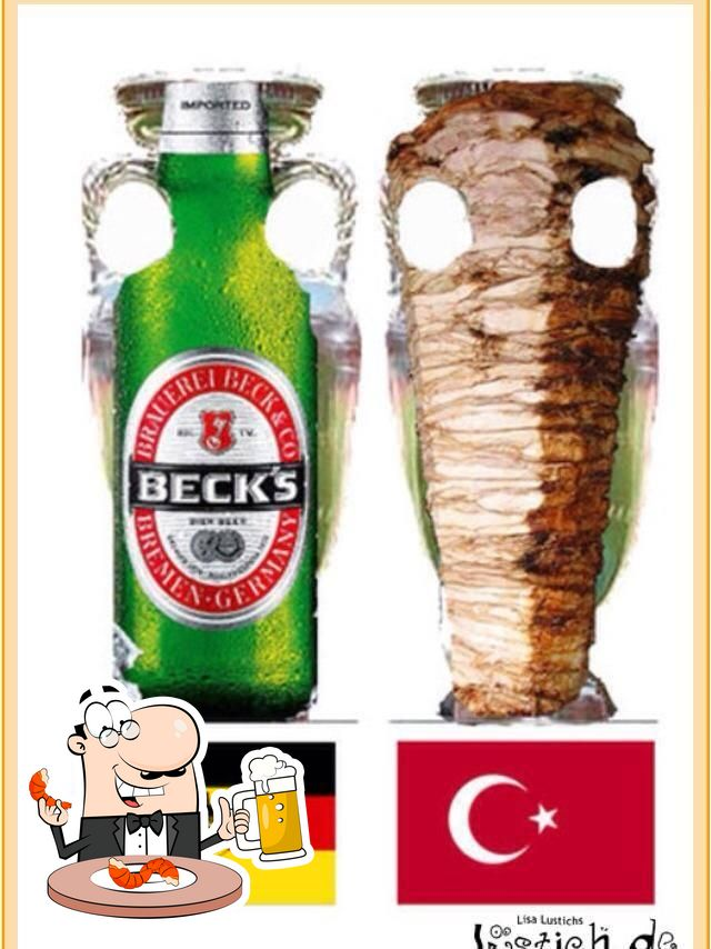 Enjoy a beer with dinner