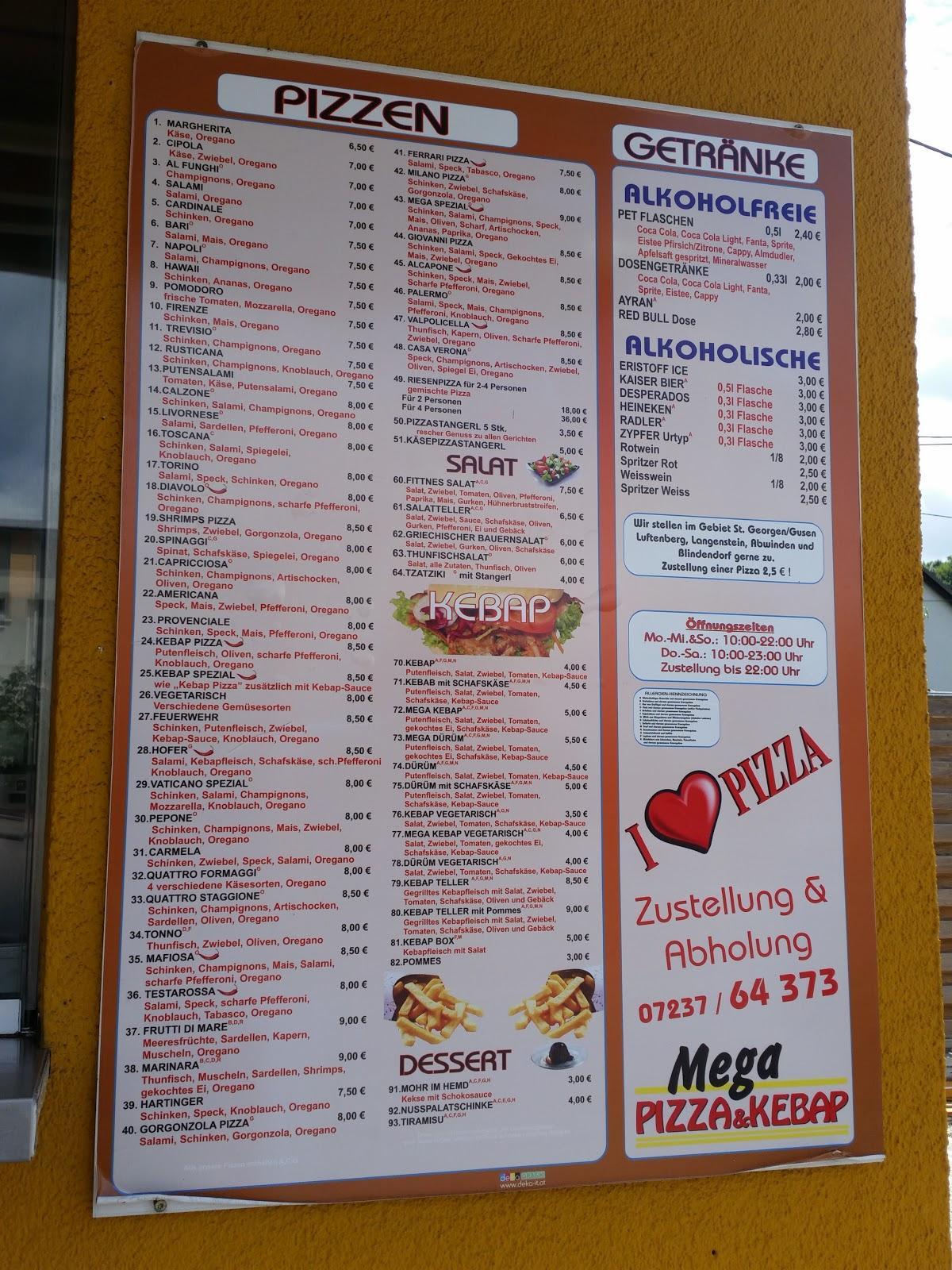 Wählt verschiedene Gerichte von der Speisekarte