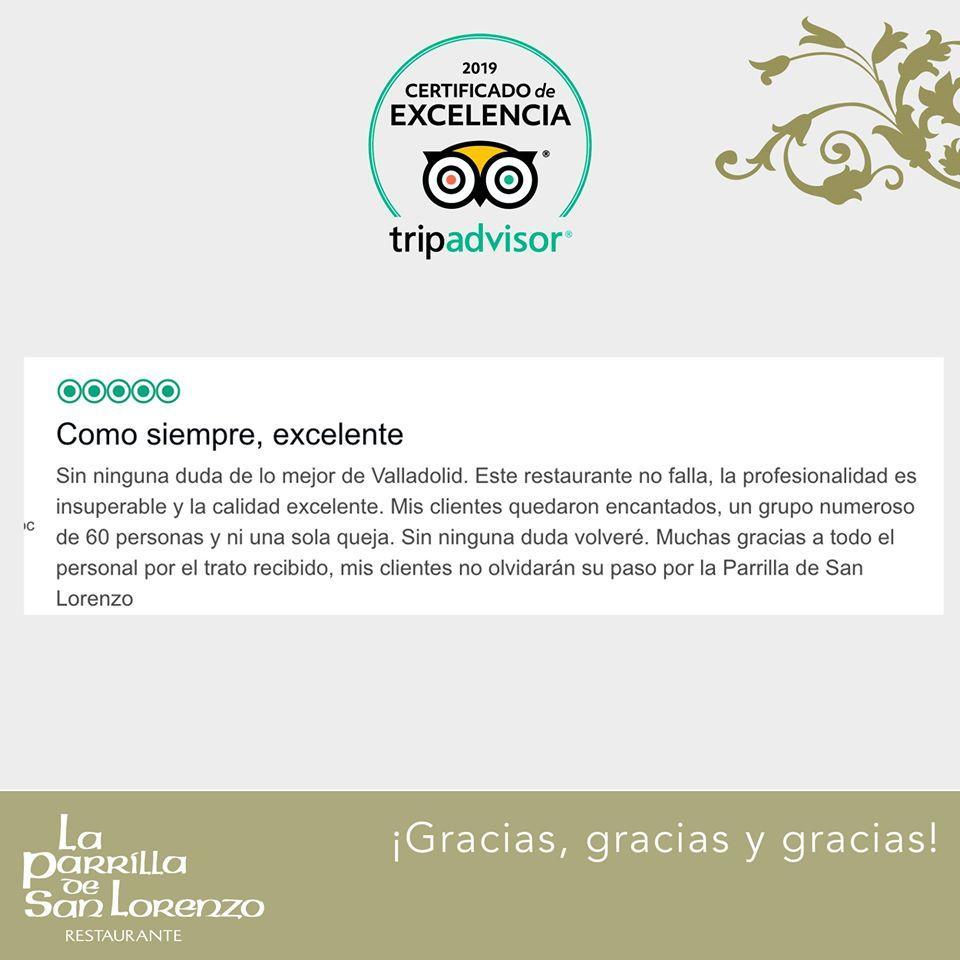 Read the information about La Parrilla de San Lorenzo