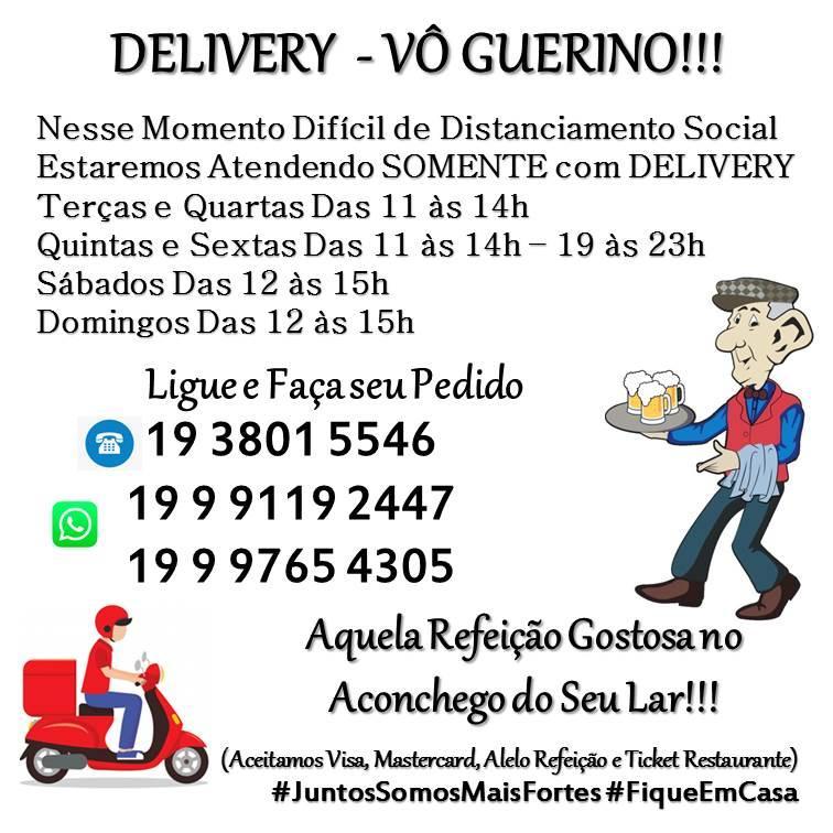 Aqui está a publicidade do Vô Guerino Bar