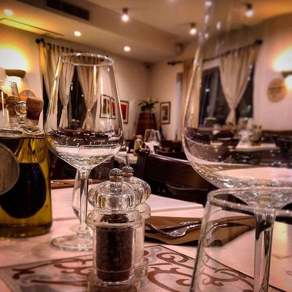 It's nice to have a glass of wine at ristorante pane e focaccia