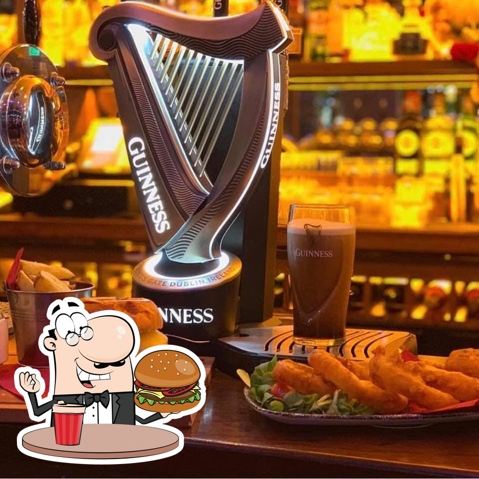 Treat yourself to a burger at Father Ted's Sports Bar & Grill