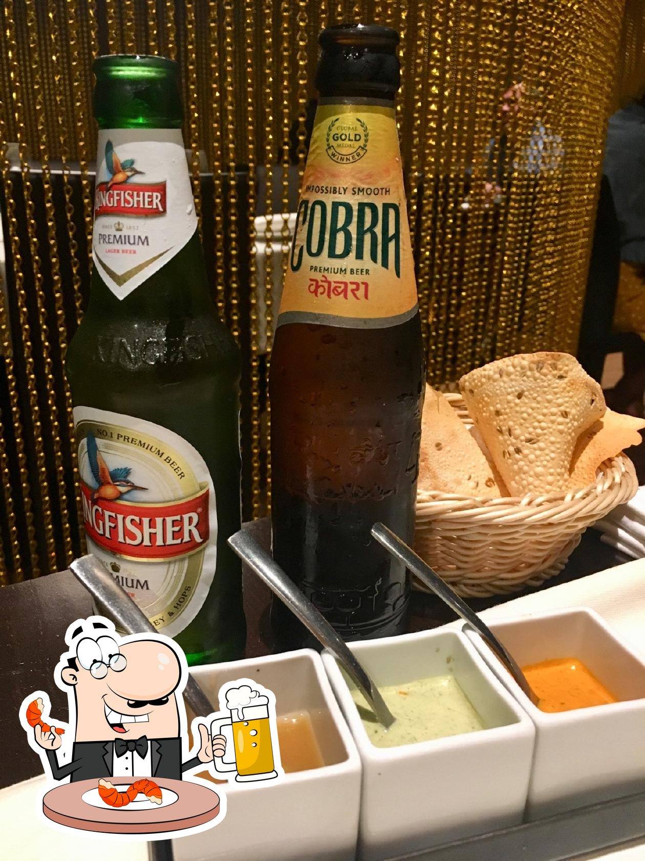 Rasoi provides a number of beers