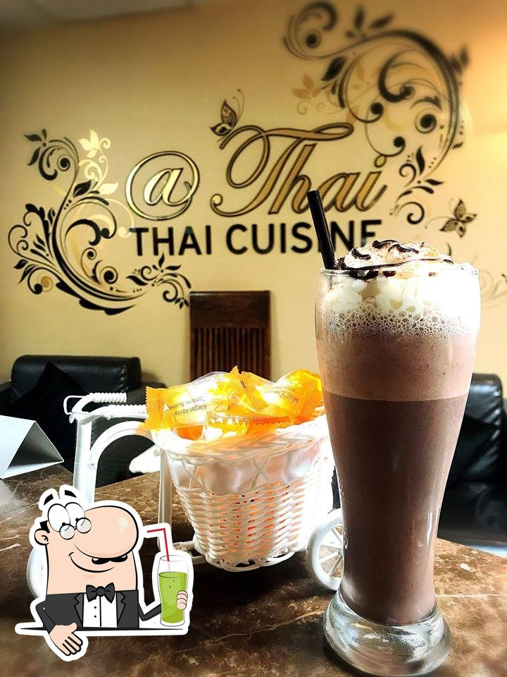 Come and try different drinks available at At Thai