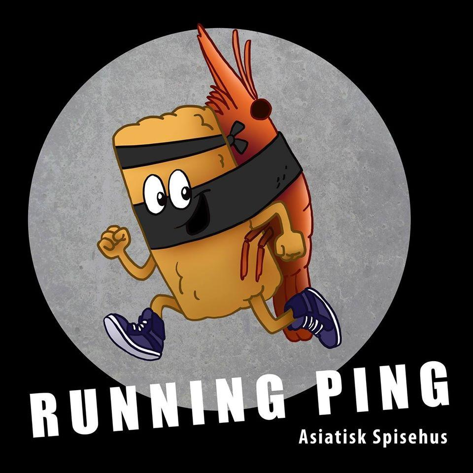 The graphical representation of Running Ping's brand