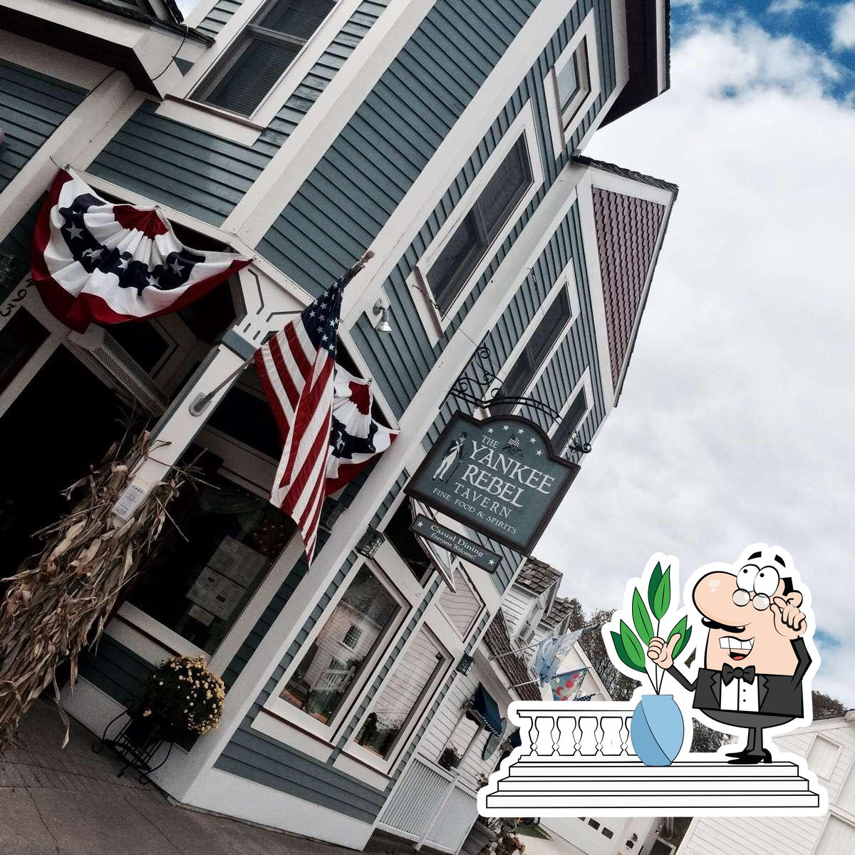Check out the exterior of Yankee Rebel Tavern