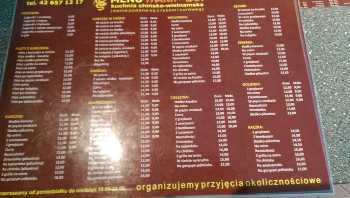 Thanh Lan Pub Bar Lodz Restaurant Reviews