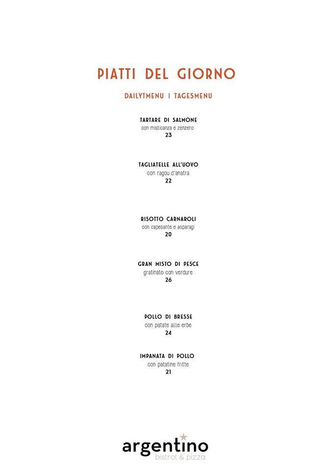 Die grafische Darstellung des Brands von Bistrot & Pizza Argentino