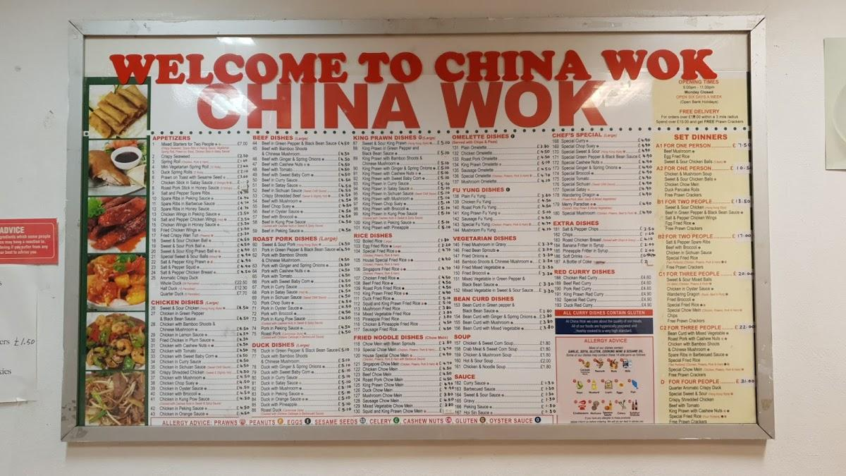 menu at china wok restaurant sheffield 423 herries rd