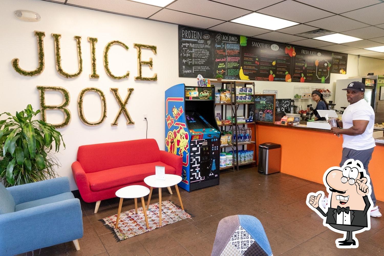 The interior of JuiceBox