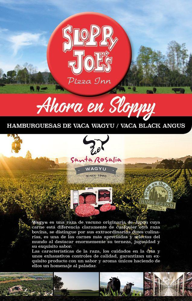 The advertisement shows information about Sloppy Joe's de Mairena del Aljarafe