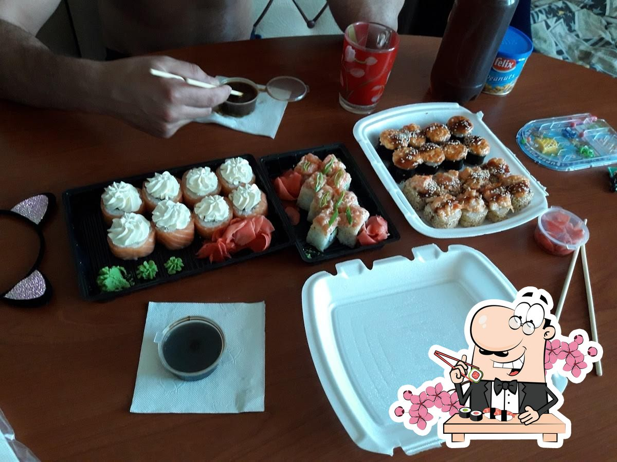 Platos en Sushi Kim