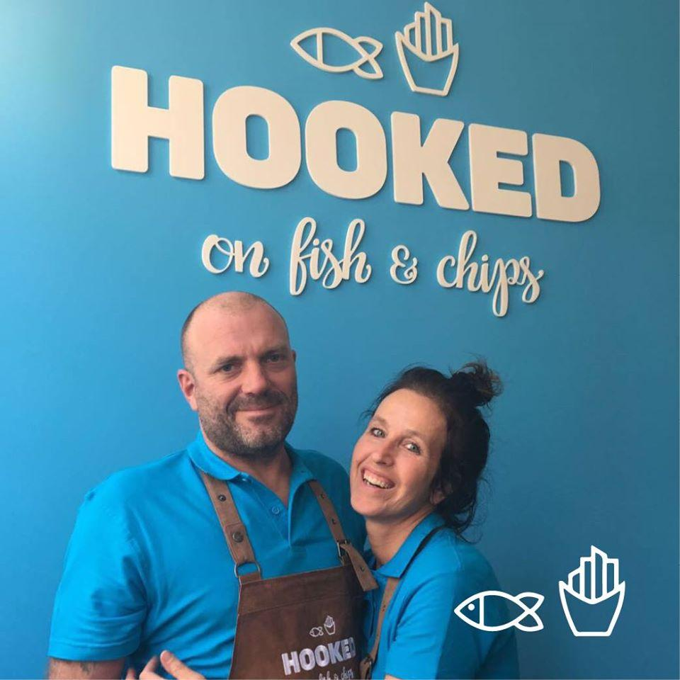 Voici l'annonce publicitaire de Hooked on fish and chips