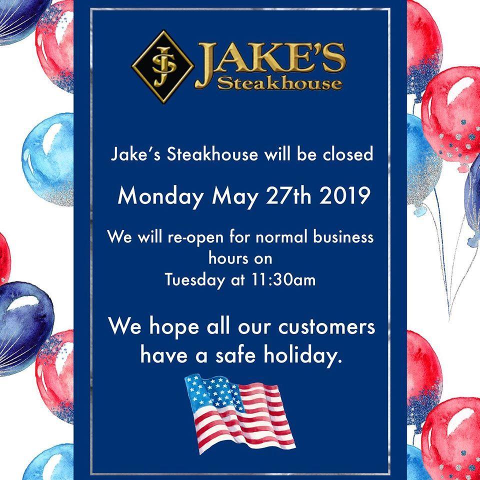 Fíjate en toda la información que hay sobre Jake's Steakhouse