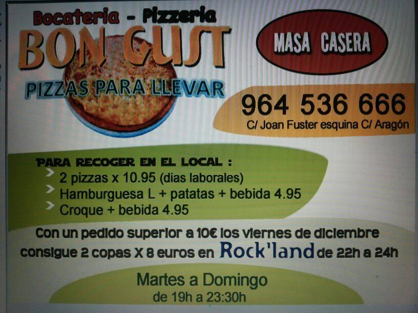 Here's the advertisement of Bon Gust Pizza & Croques