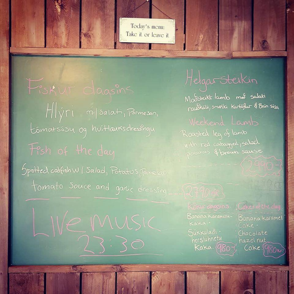Check out the daily specials on the blackboard