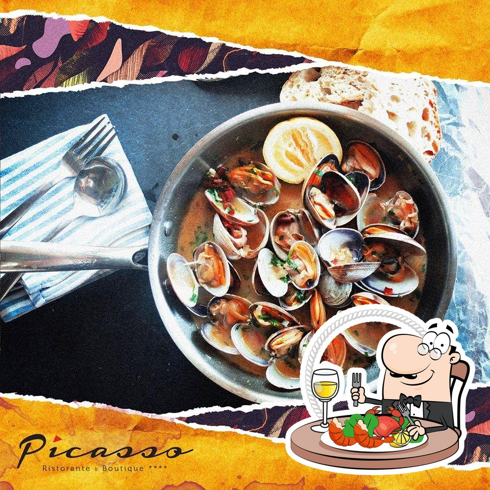 Get different seafood dishes served at Ristorante Picasso