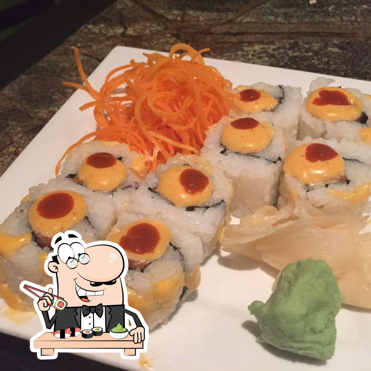 Sushi is a famous food item that originates from Japan