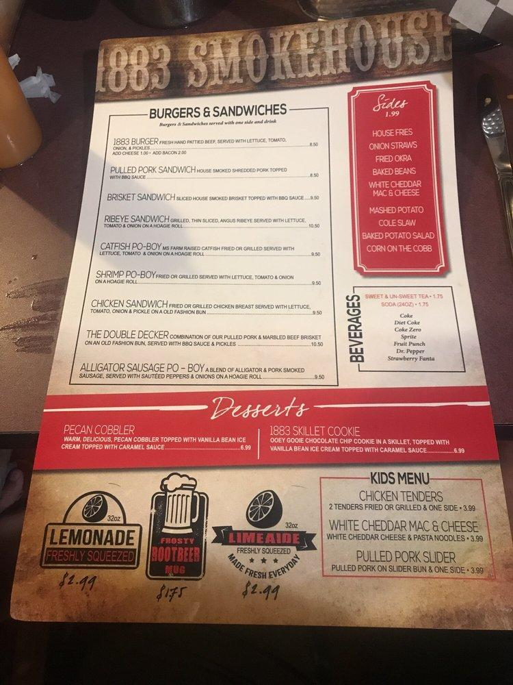 Read the information about 1883 Smokehouse
