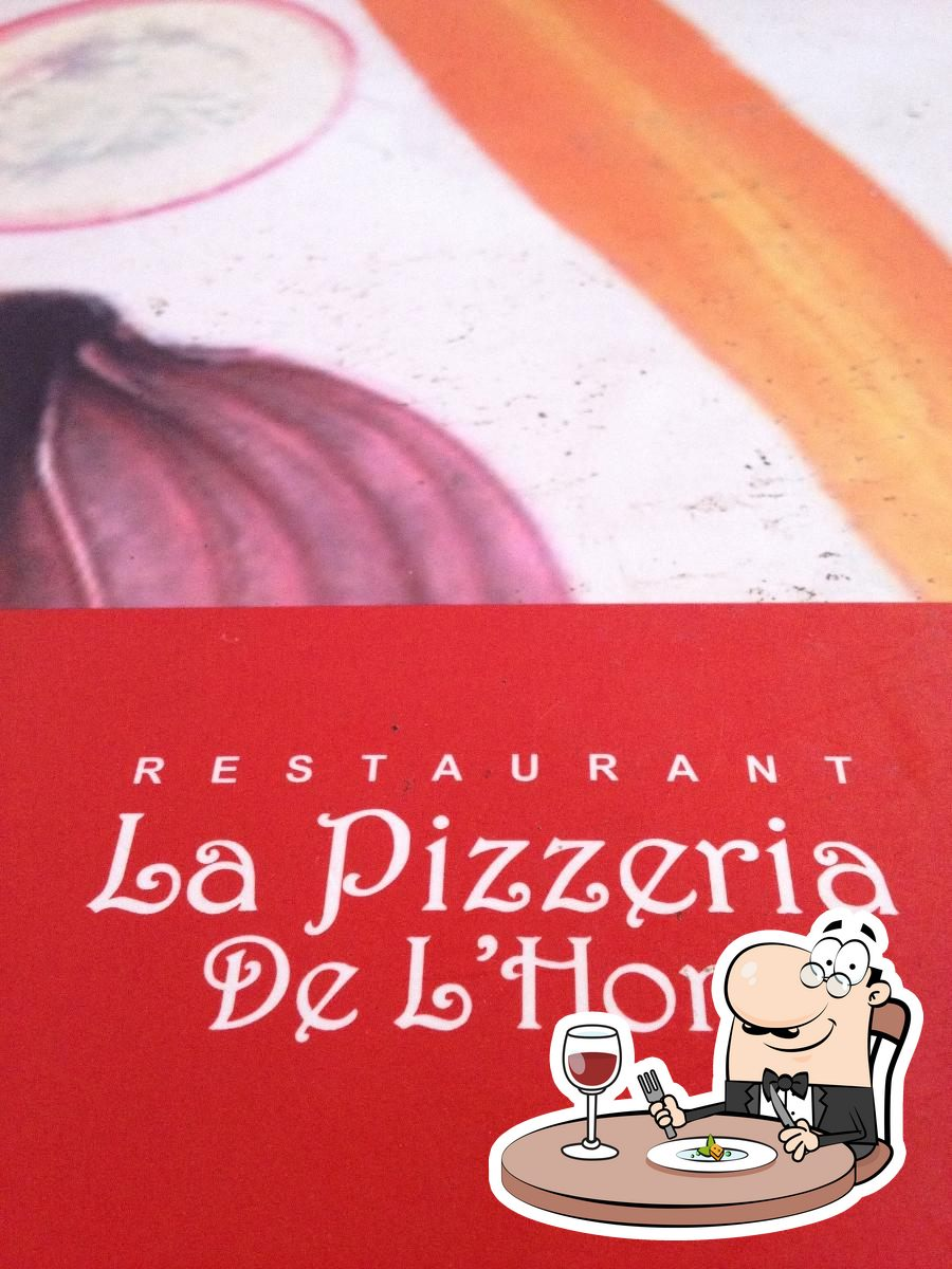 Platos en La Pizzeria de l'Hort