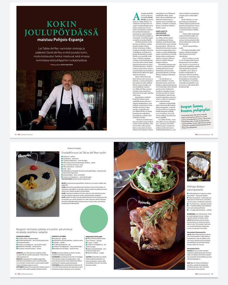 The advertisement shows information about Restaurante Las Tablas del Rey