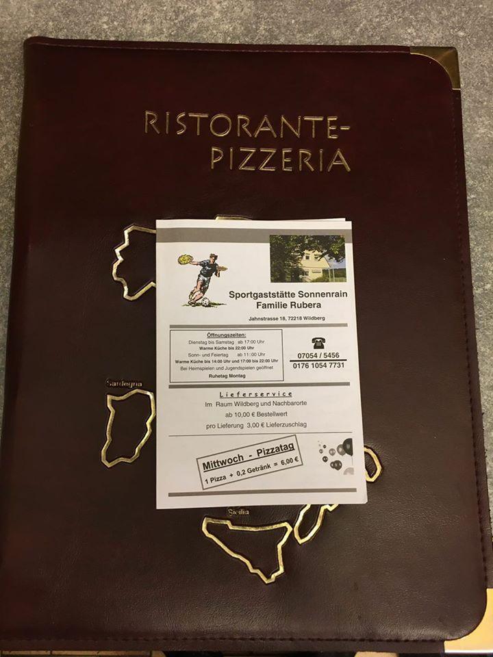 Hier ist die Werbung von Ristorante Pizzeria Rubera