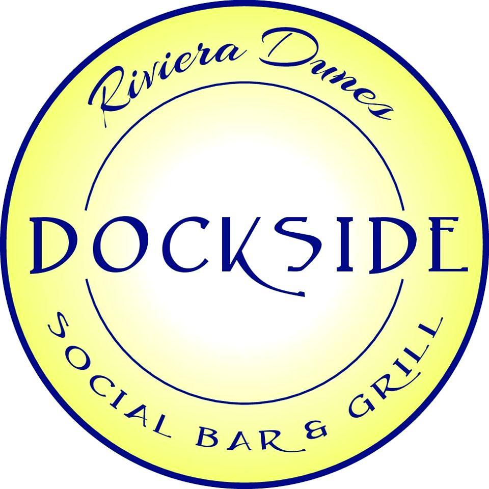 The logo of Riviera Dunes Dockside