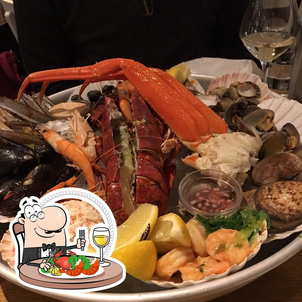 Get different seafood meals available at The Seafood Bar