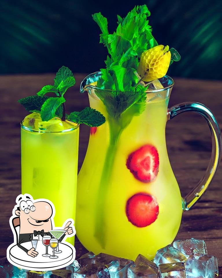 Chef offers a variety of alcoholic drinks