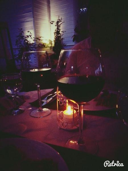 It's nice to have a glass of wine at Secret Garden Restaurant