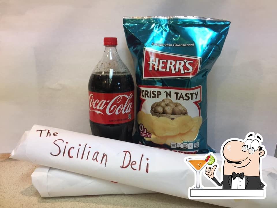 Try out a beverage at Sicilian Deli