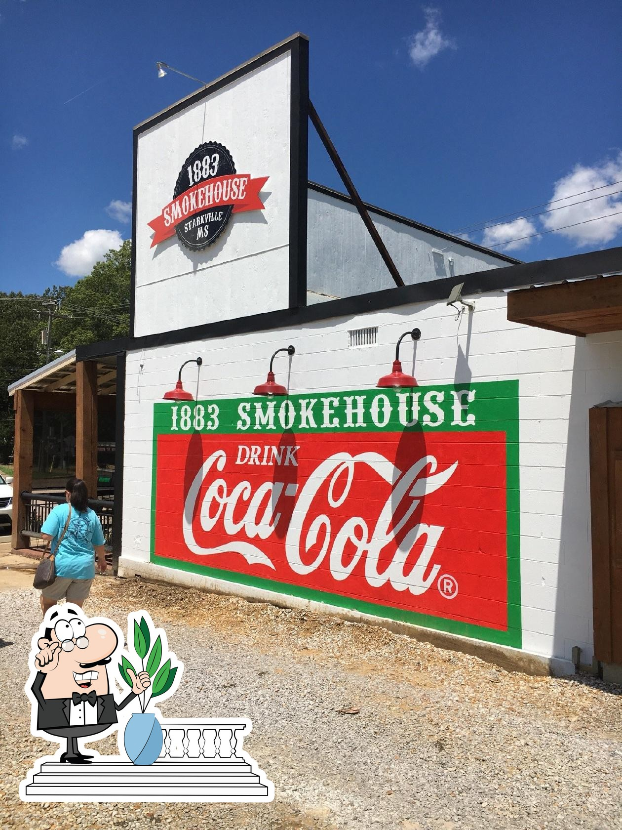 The exterior is an important feature of 1883 Smokehouse