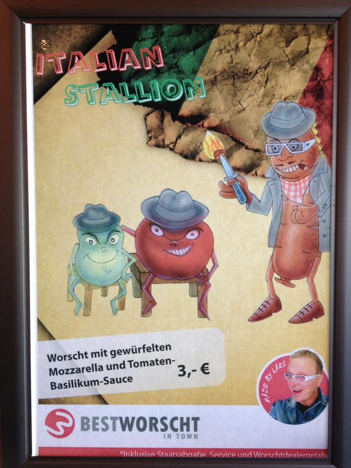 Here's the advertisement of Best Worscht in Town