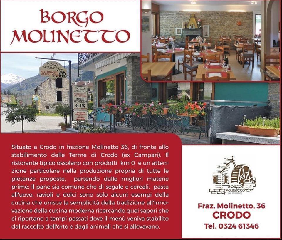 La pubblicità mostra le informazioni su Borgo Molinetto